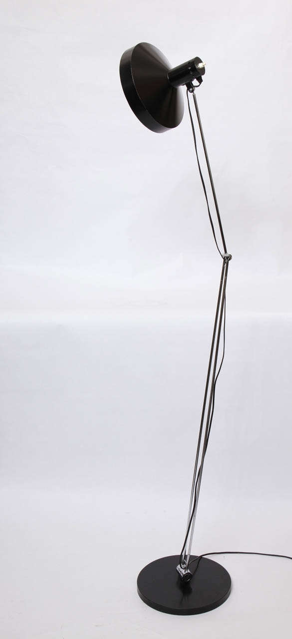 1950s Articulated Floor Lamp by Rico & Rosemary Battensweller, Switzerland For Sale 3