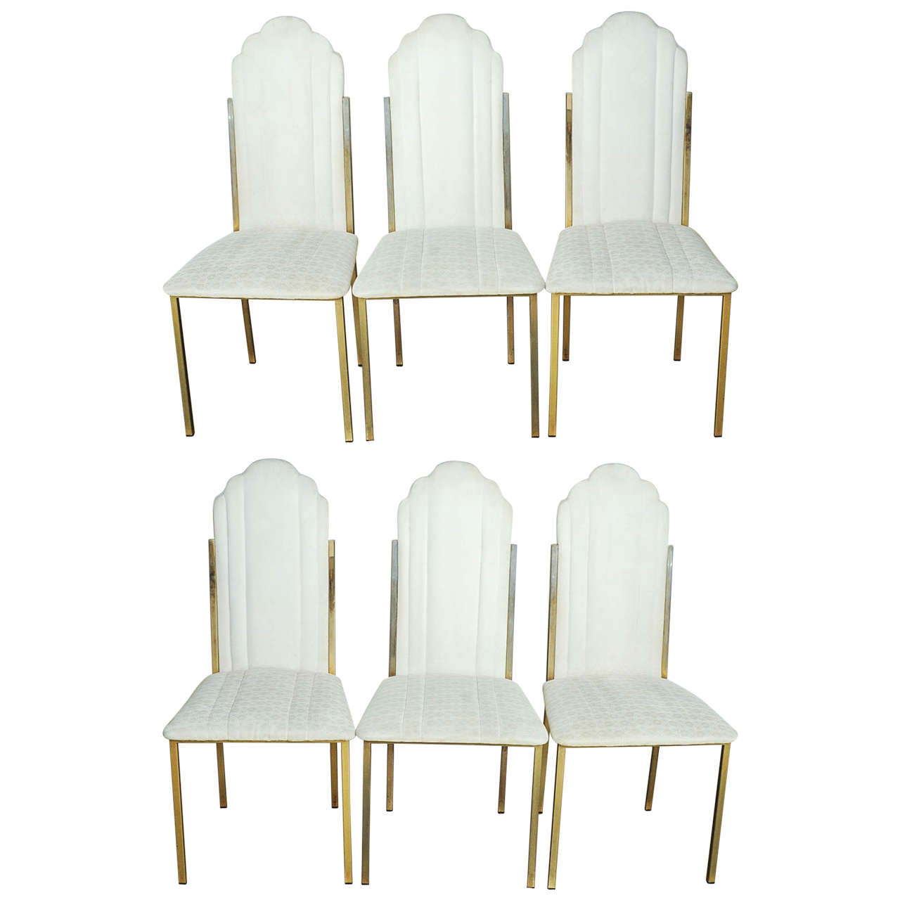 Set of Six Hollywood Regency Dining Chairs by Alain Delon for Maison Jansen  For Sale 1810fef53b