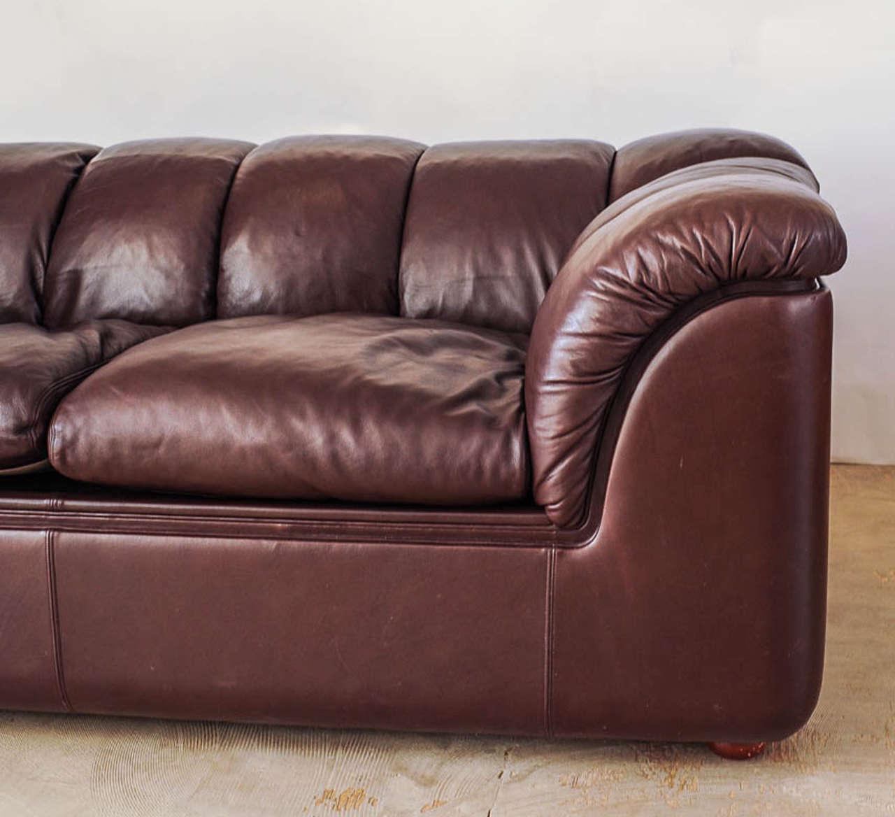 Leather sofa by poltrona frau at 1stdibs - Leather Sofa By Poltrona Frau 3
