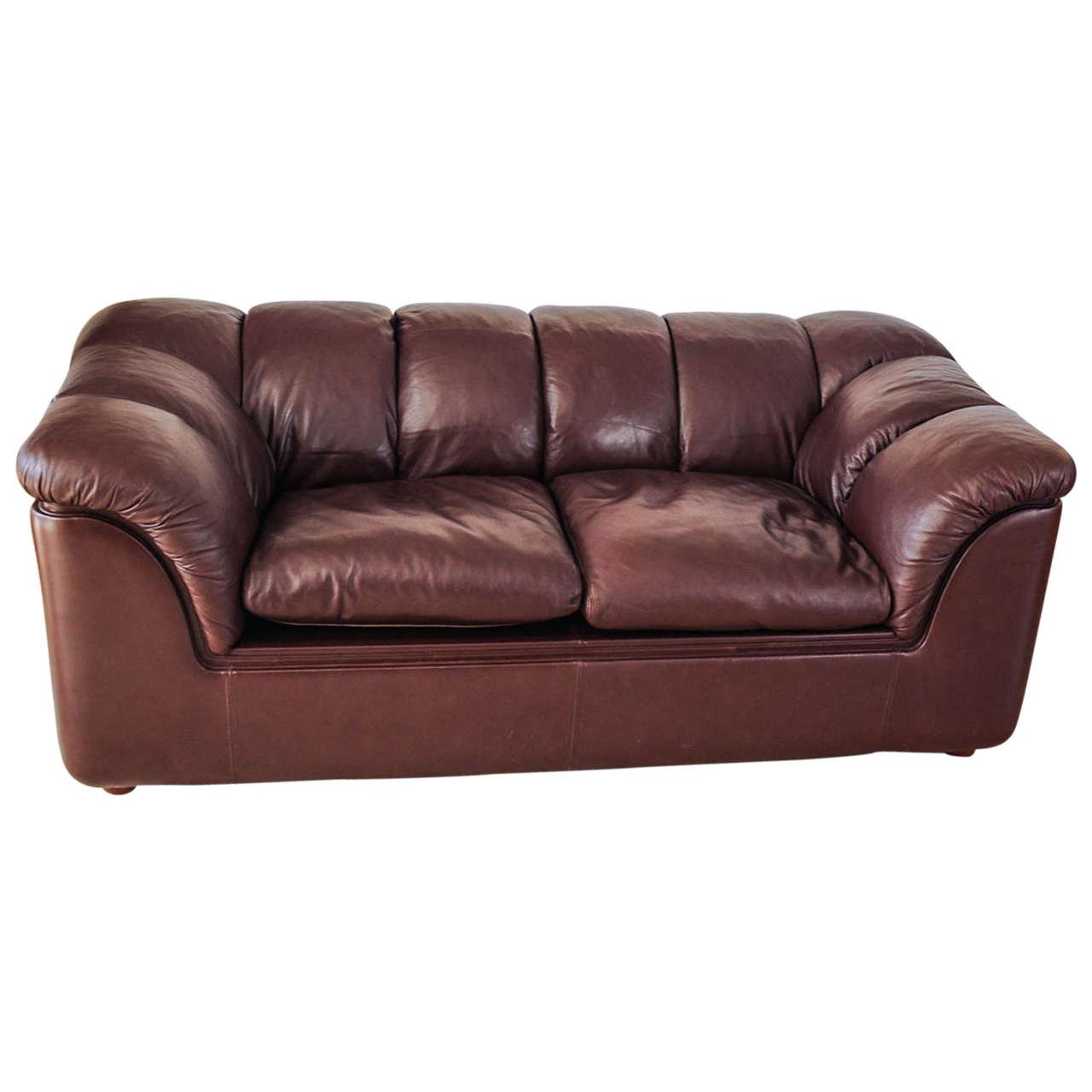 Leather sofa by poltrona frau at 1stdibs - Leather Sofa By Poltrona Frau 1