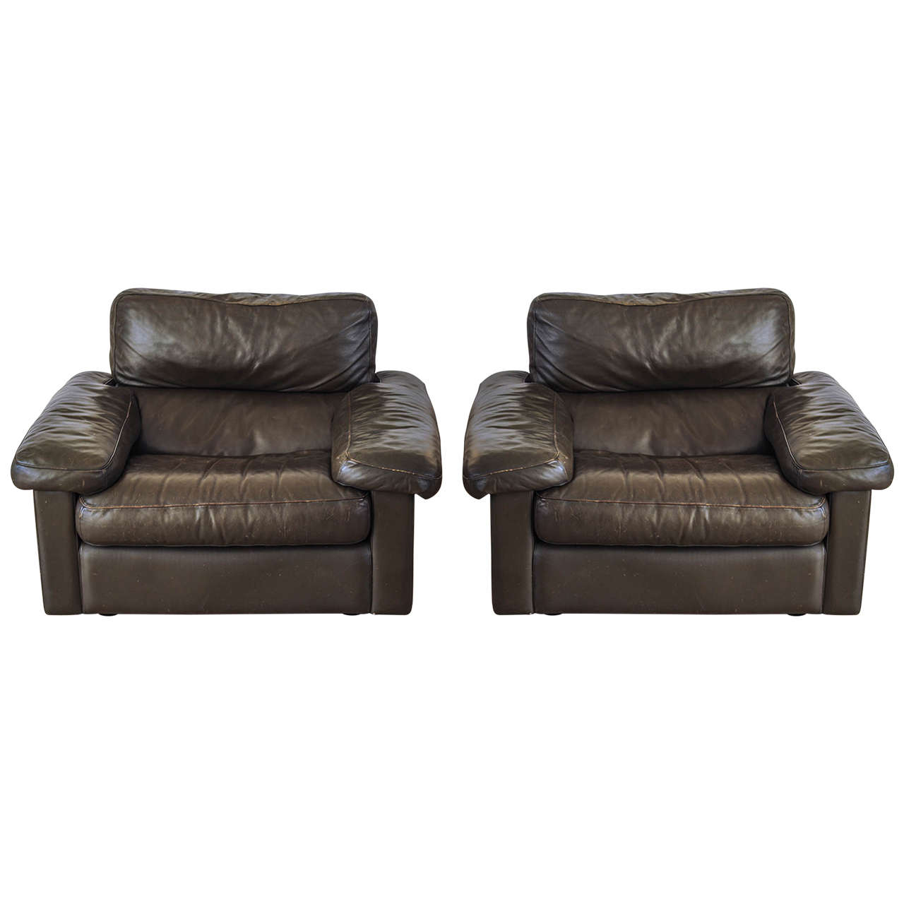 Leather sofa by poltrona frau at 1stdibs - Set Of Two Easy Chairs Petronio By Tito Agnoli For Poltrona Frau 1