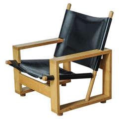 Wooden 'Block Chair' by Ate van Apeldoorn