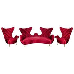 Unusual 1950's Italian sofa