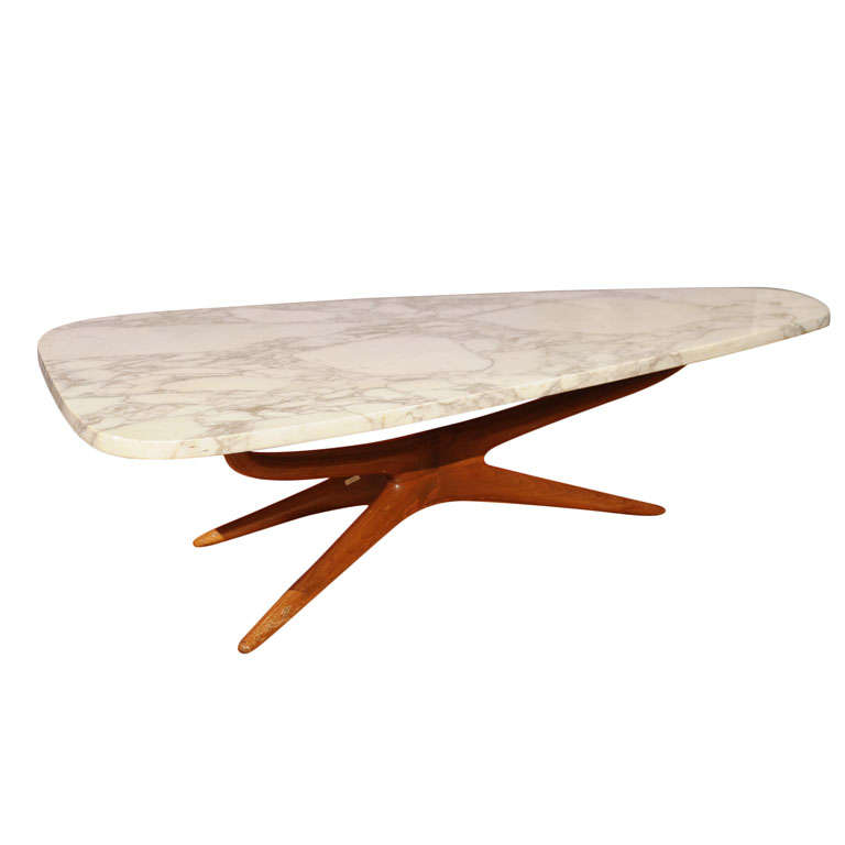 vladimir kagan tri symmetric coffee table at 1stdibs