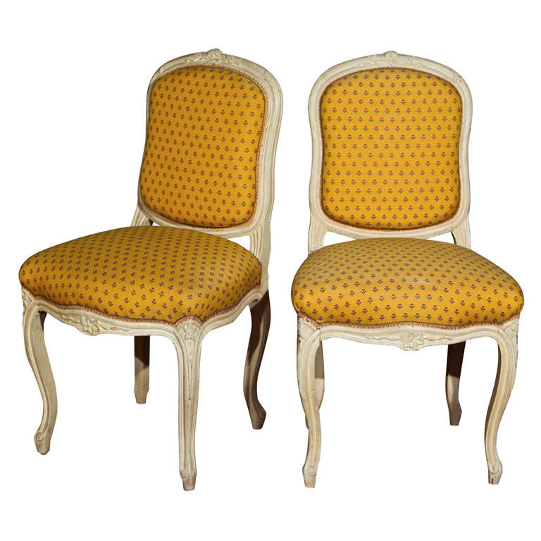 Pair of French Louis XV Style Boudoir Chairs
