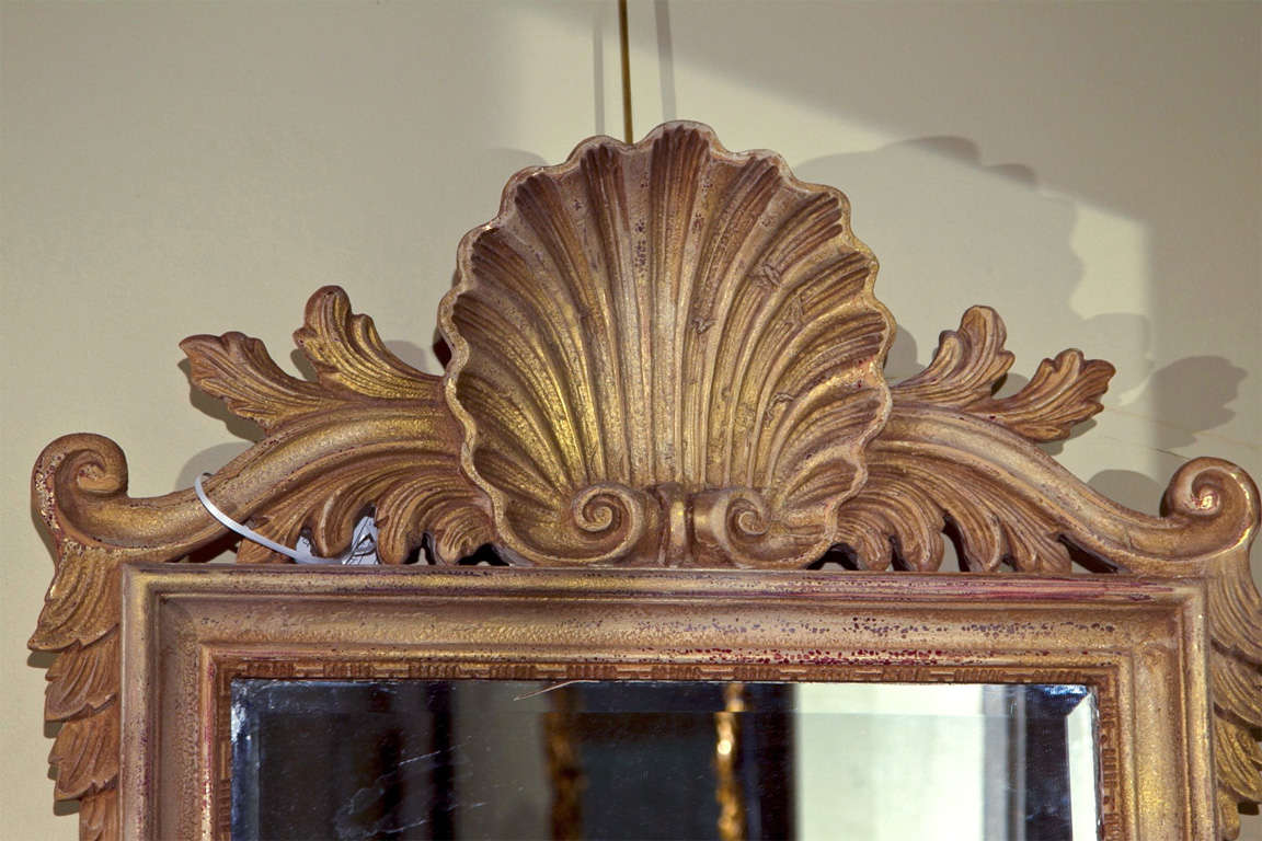 Shell carved rectangular mirror for sale at stdibs