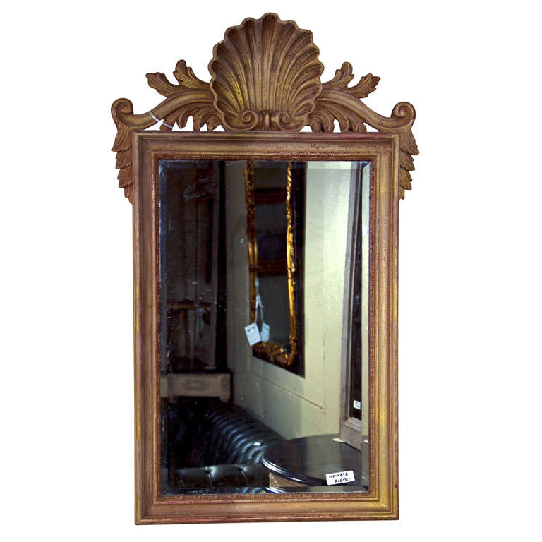 Shell Carved Rectangular Mirror