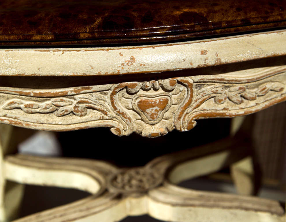 American Pair of French Louis XV Style Footstools For Sale