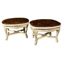 Pair of French Louis XV Style Footstools