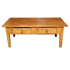 French coffee table with two drawers