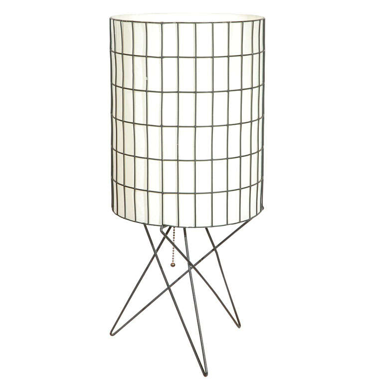 wire and paper table light by paul mayen at 1stdibs