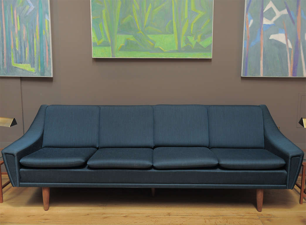 Mid Century Modern Dansk Mobelproduct 4 Person Sofa For