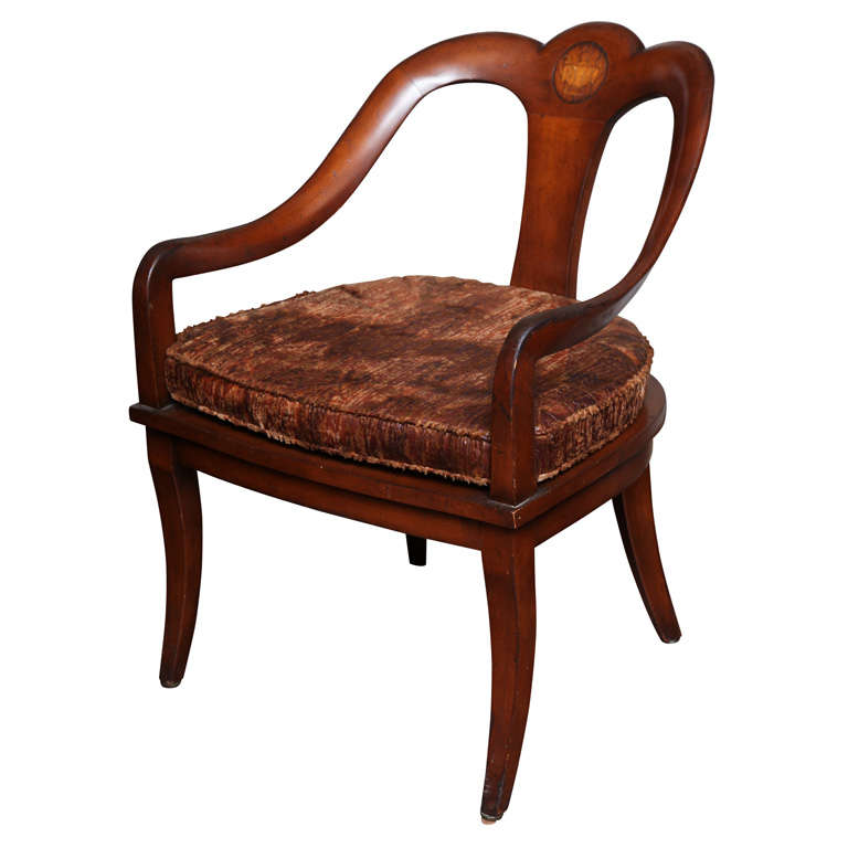 Mahogany Antique Federal Armchair With Klismos Legs At 1stdibs