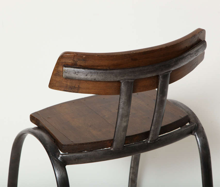 Steel Bar Stool with Wooden Seat and Back image 6
