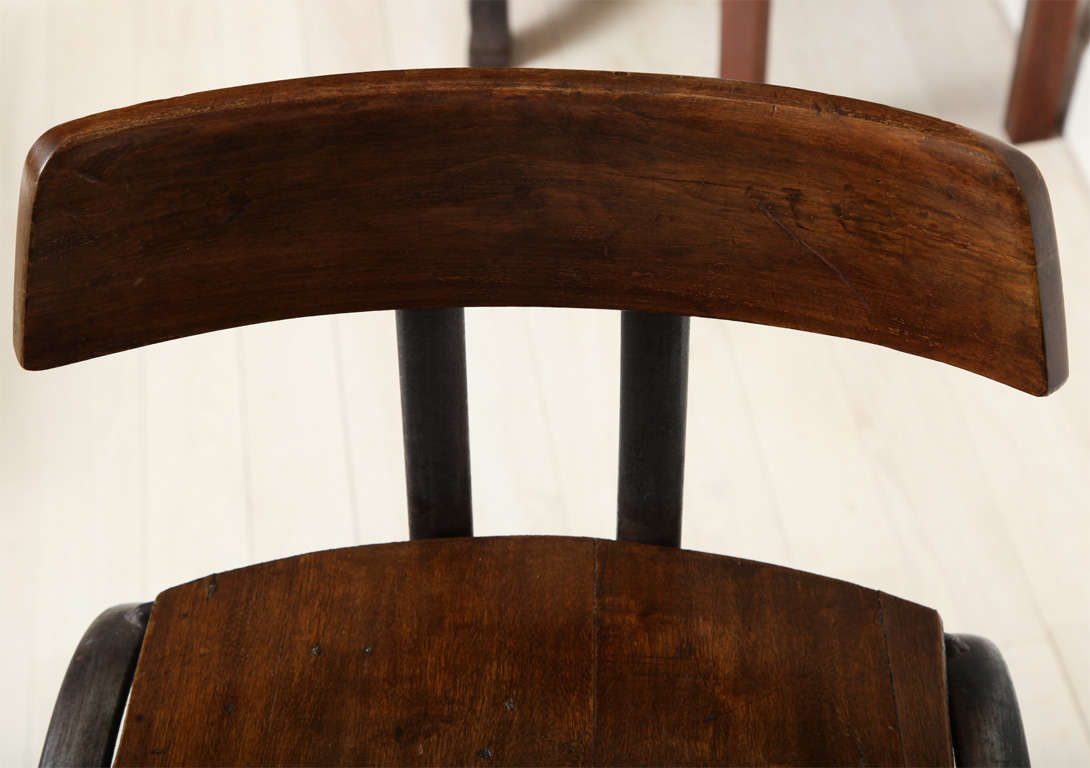 Steel Bar Stool with Wooden Seat and Back image 9