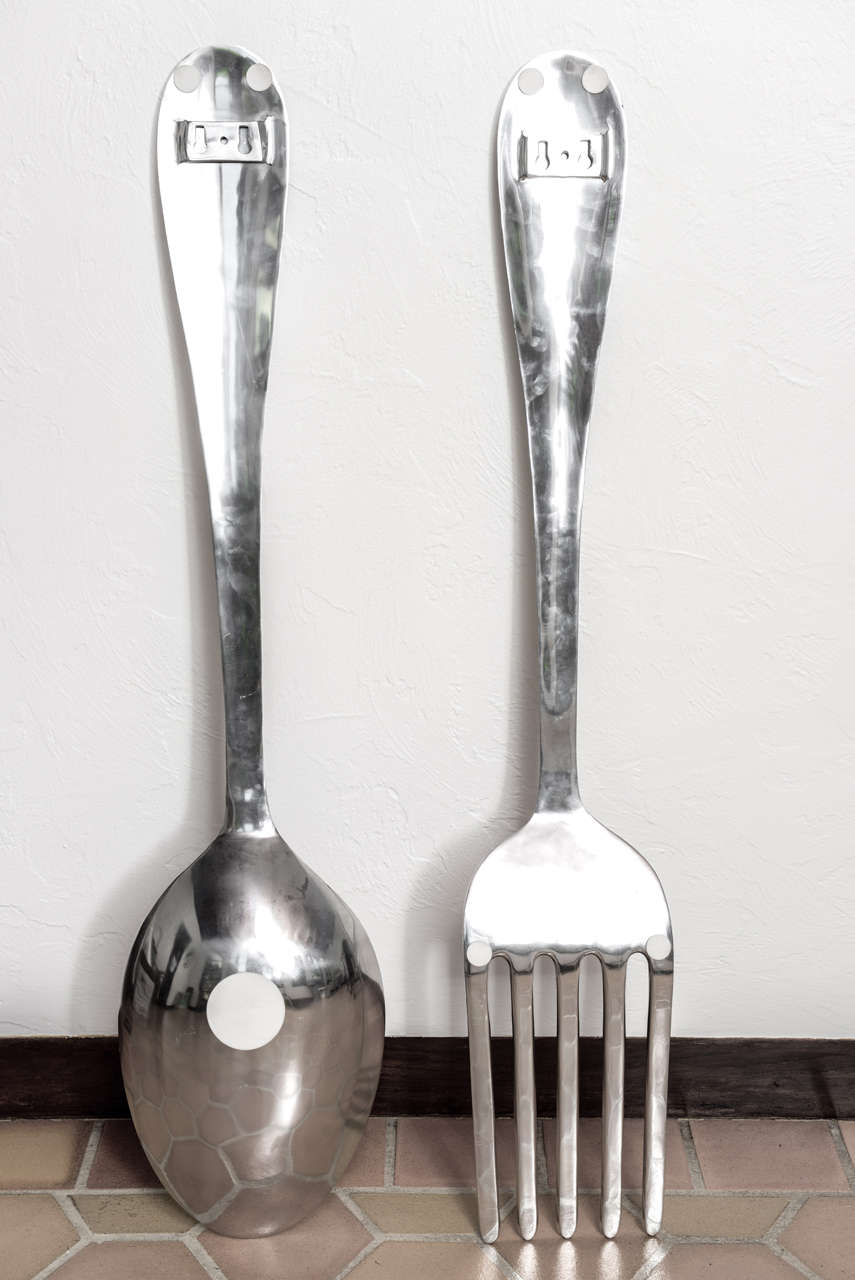 Large Fork and Spoon Wall Hanging 2