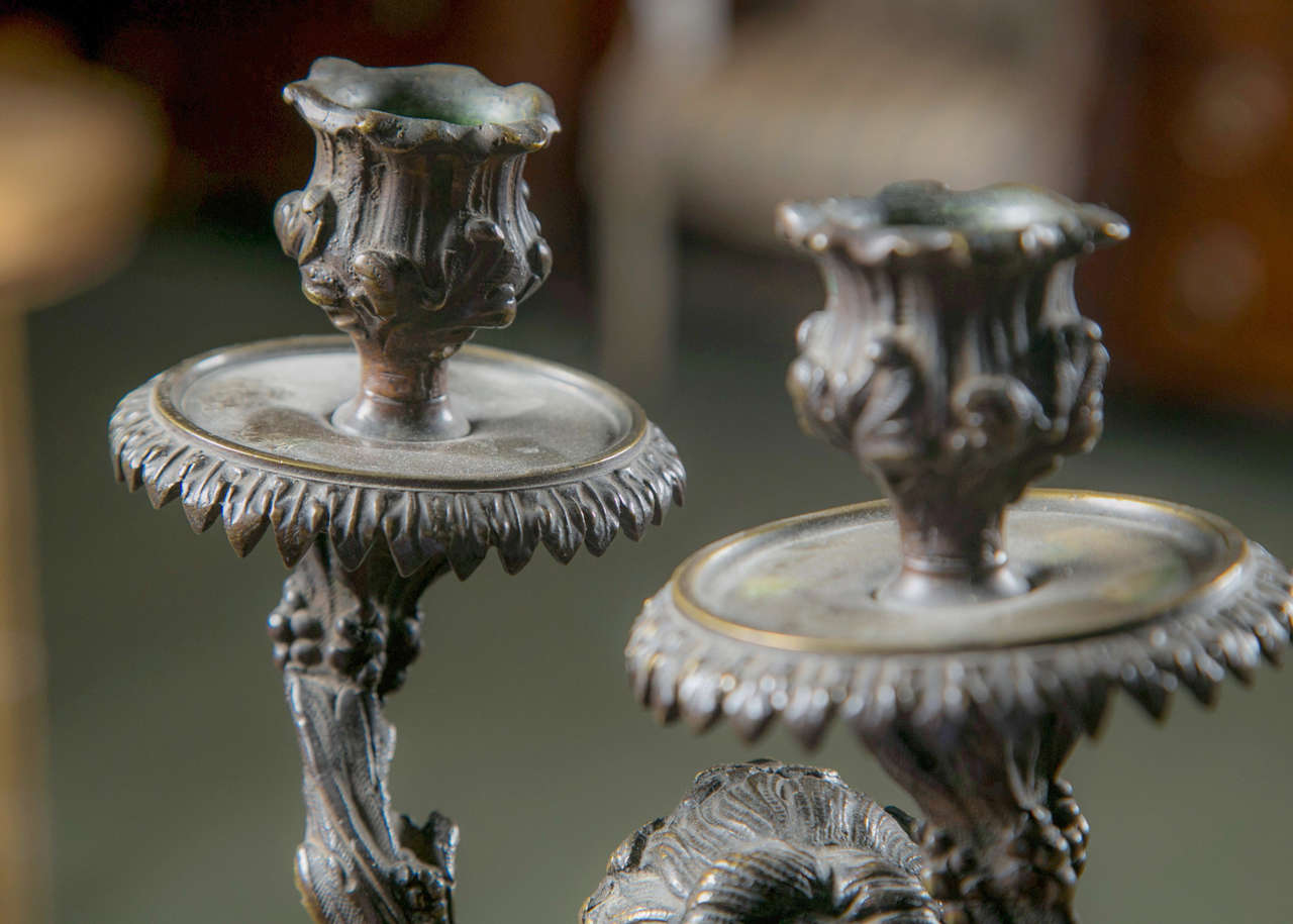 Pair of Rococo Style Candelabra For Sale 2