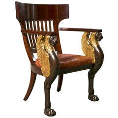 French Empire Style Chair by Frederick Victoria