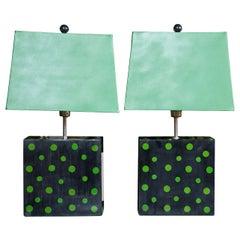 Pair of Polka Dot Lamps