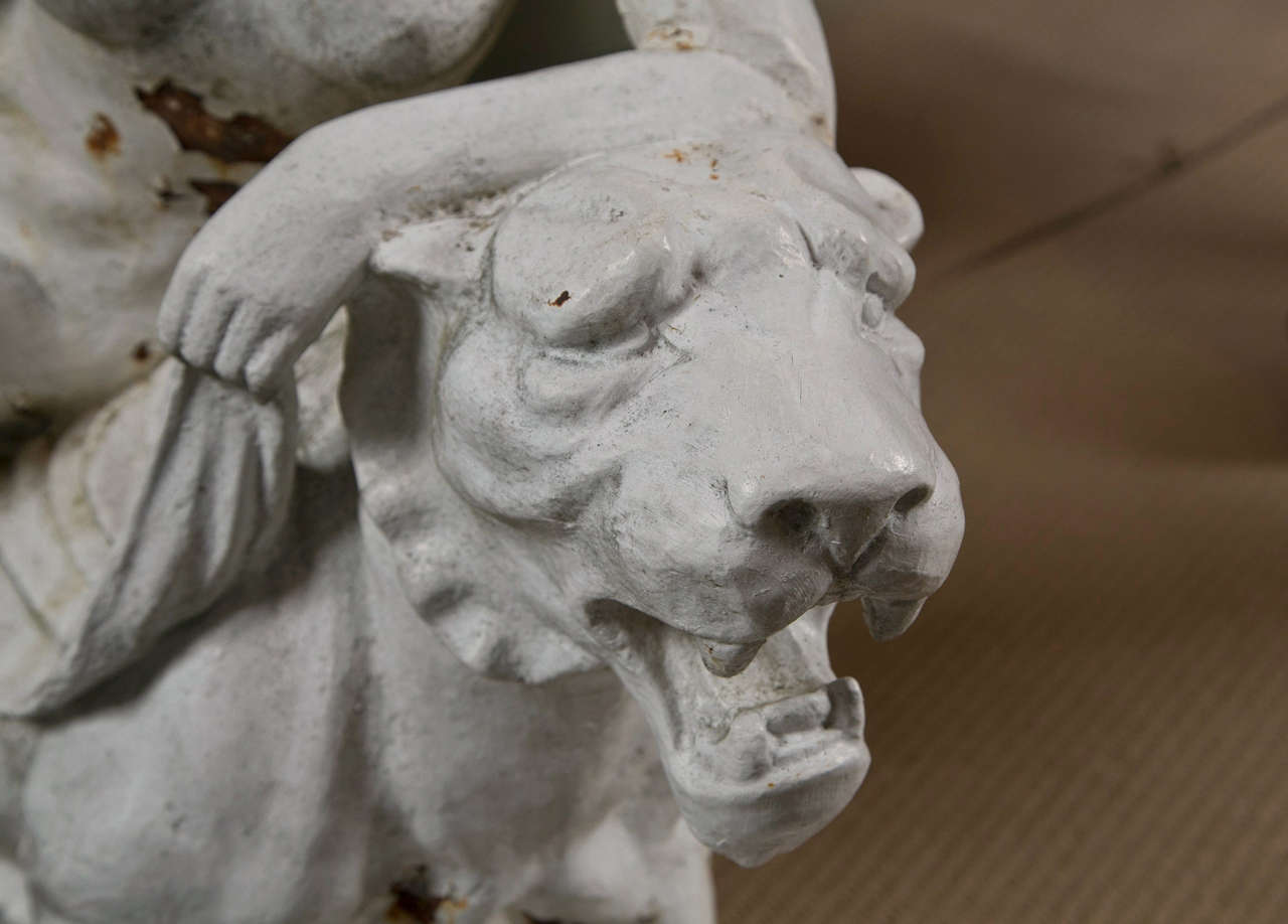 Cast Iron Figure of Adriadne on the Back of a Panther 5