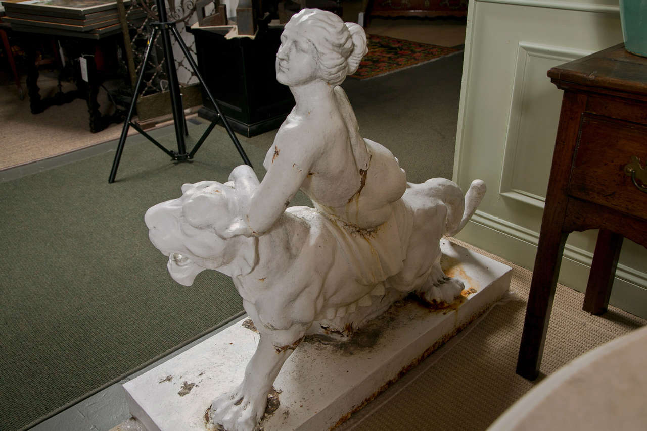 Cast Iron Figure of Adriadne on the Back of a Panther 7