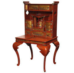 19th Century Japanese, Lacquered Secretaire
