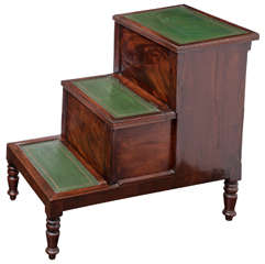 19th Century English, Mahogany Bed Steps