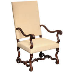 18th Century French, Walnut Armchair