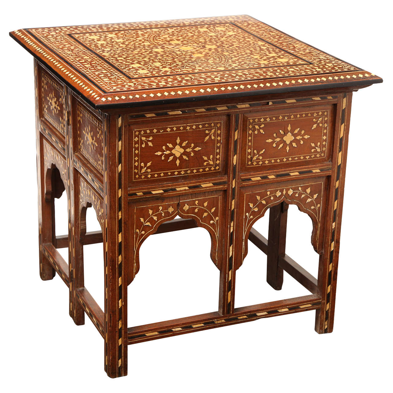 19th Century, Bone Inlaid Table