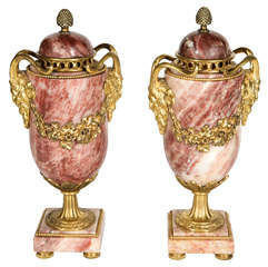 Pair of Stylized 19th Century Urns