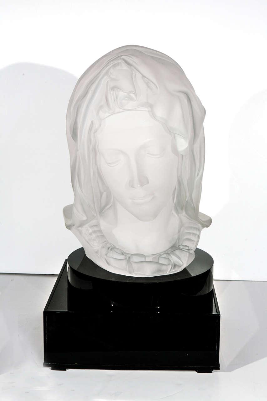 Madonna de la Pieta Acrylic Sculpture