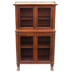 19th c. Regency Rosewood baby bookcase in the manner of John Mclean