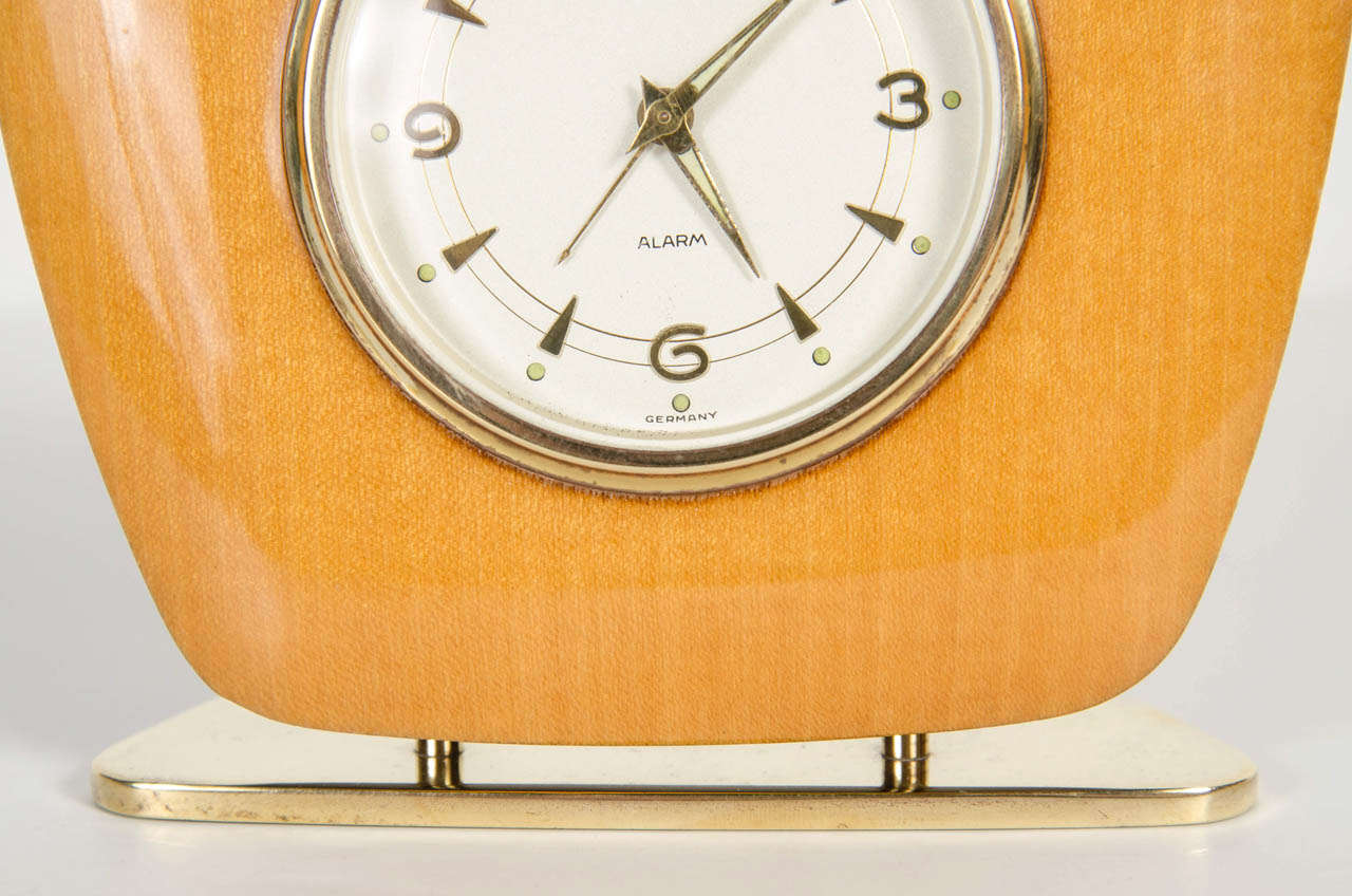 German Mid-Century Modern Desk Clock For Sale