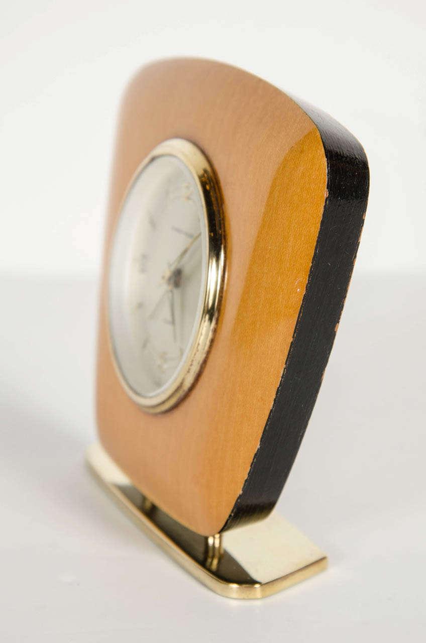 20th Century Mid-Century Modern Desk Clock For Sale
