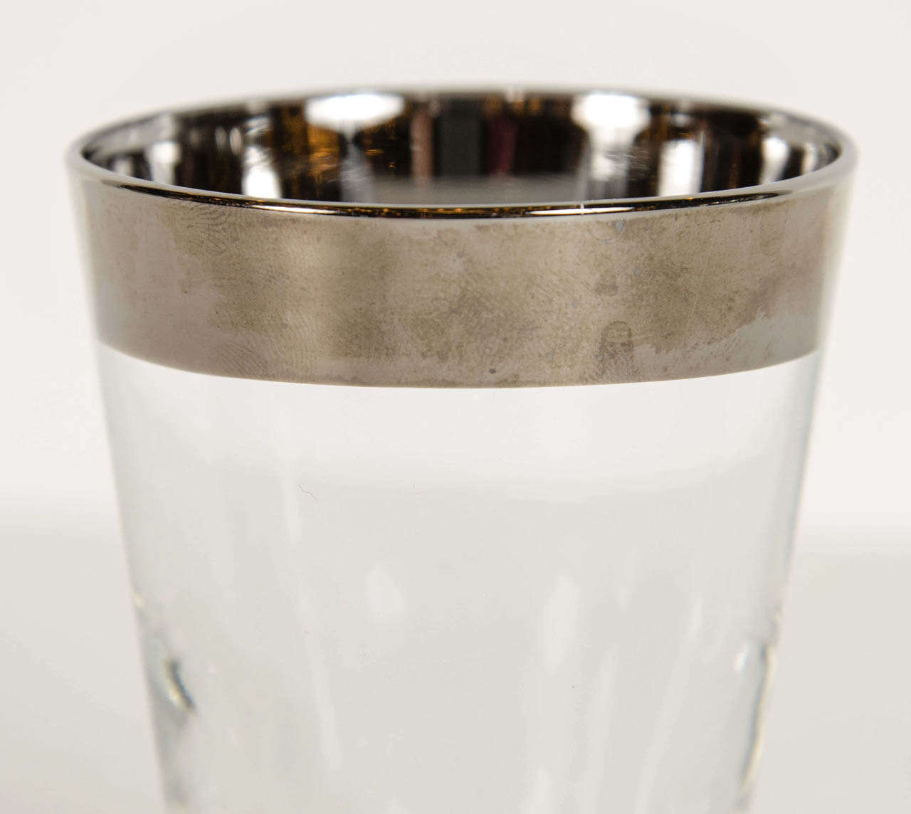 Art Deco Set of Four Tumblers by Dorothy Thorpe In Excellent Condition For Sale In New York, NY