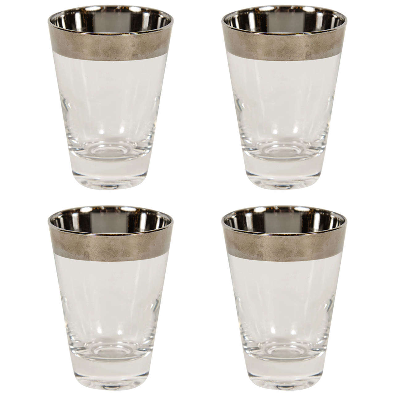 Art Deco Set of Four Tumblers by Dorothy Thorpe For Sale