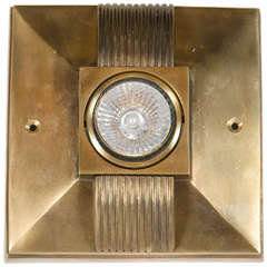 Streamline Art Deco Style Spotlight in Patinated Bronze