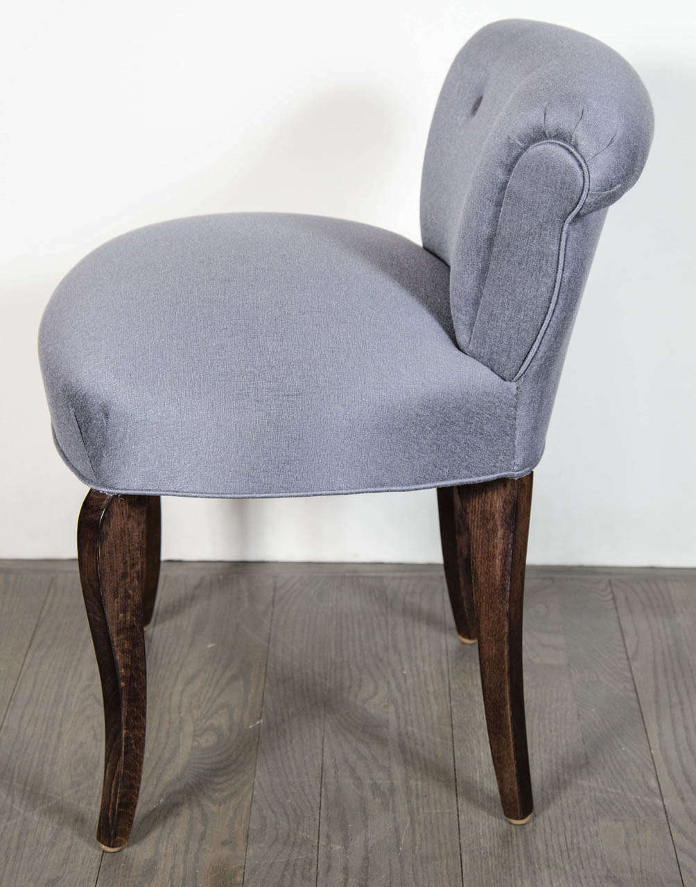 1940 39 s hollywood scroll back vanity chair stool with cabriole legs at 1stdibs - Vanity stool with back ...
