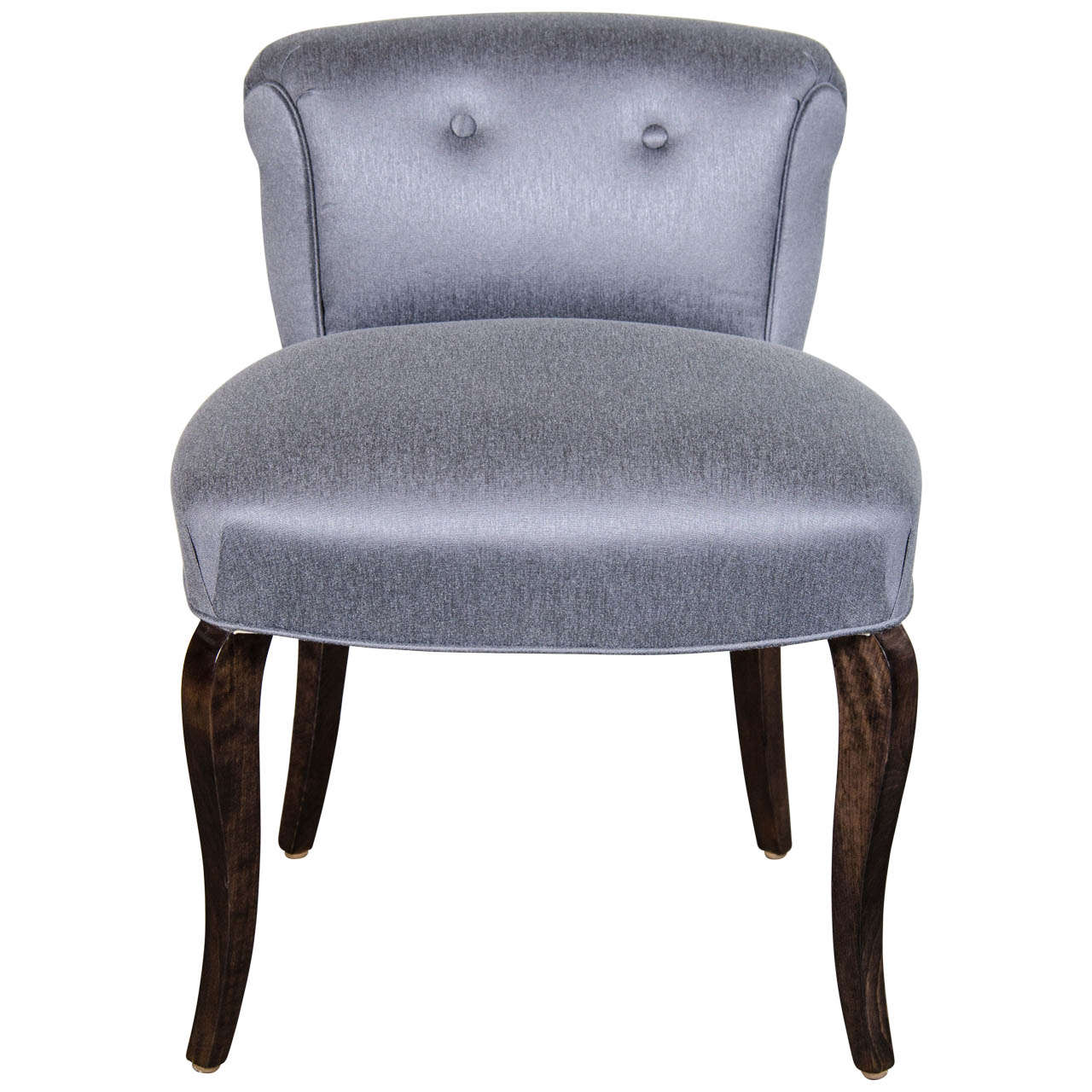 1940 39 s hollywood scroll back vanity chair stool with cabriole legs at 1stdibs - Tall vanity chair ...