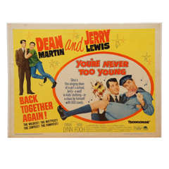 "Dean Martin and Jerry Lewis, 1955 Movie Poster  for ""You're Never Too Young"""