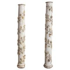 Spanish 17th Century Pair of Columns
