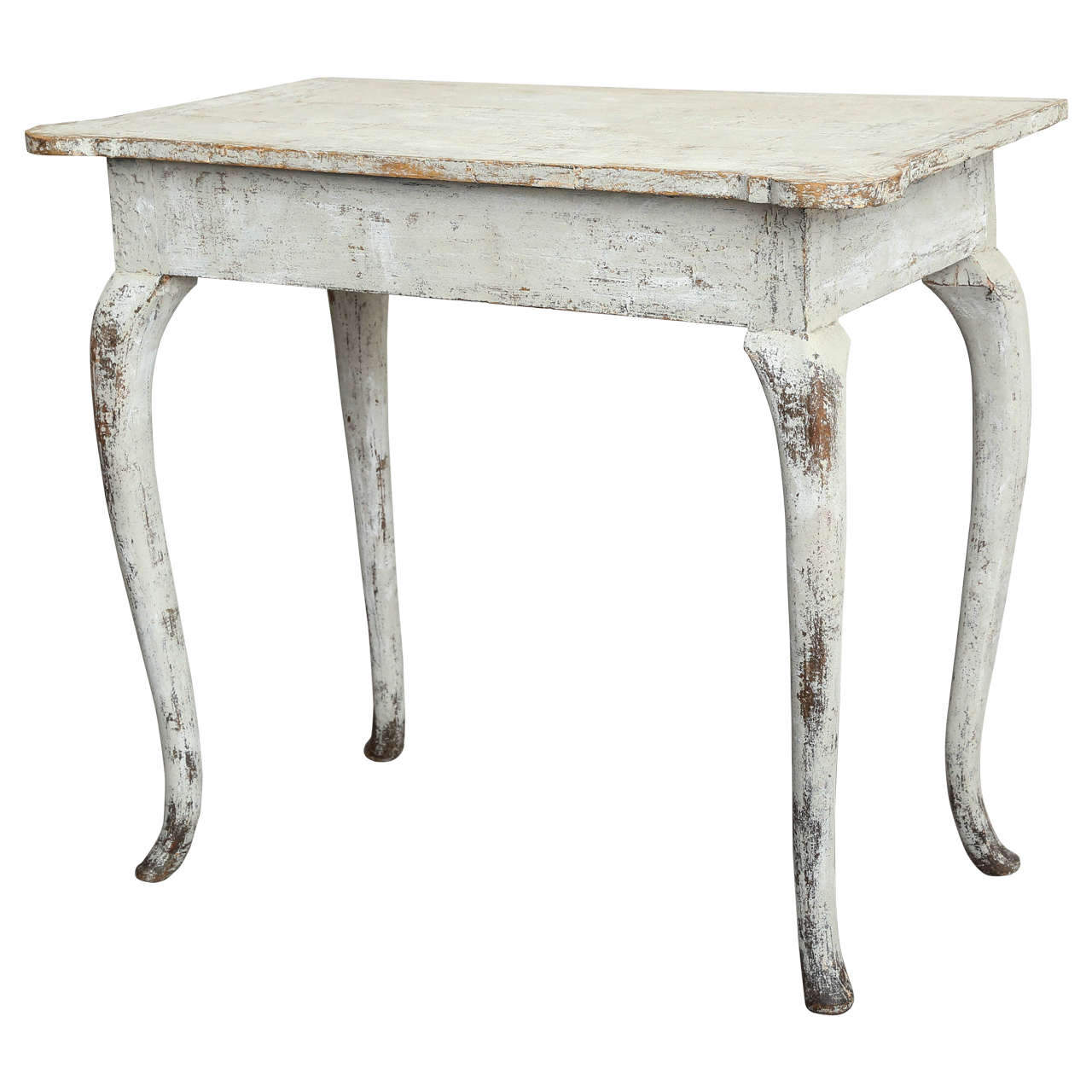 Charmant Swedish Rococo Side Table, Circa 1770 For Sale