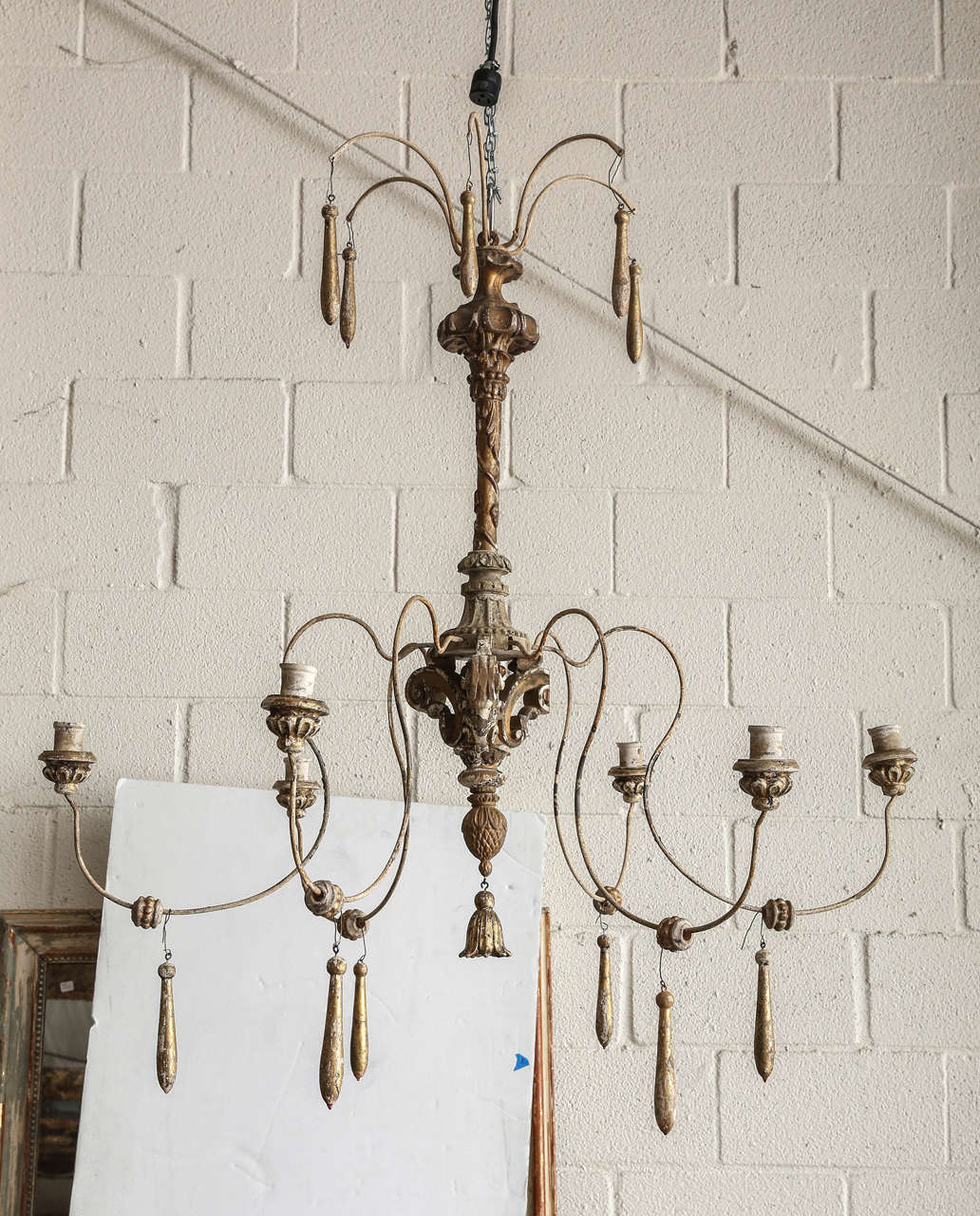 Spider Chandelier Made with Antique Italian Parts at 1stdibs
