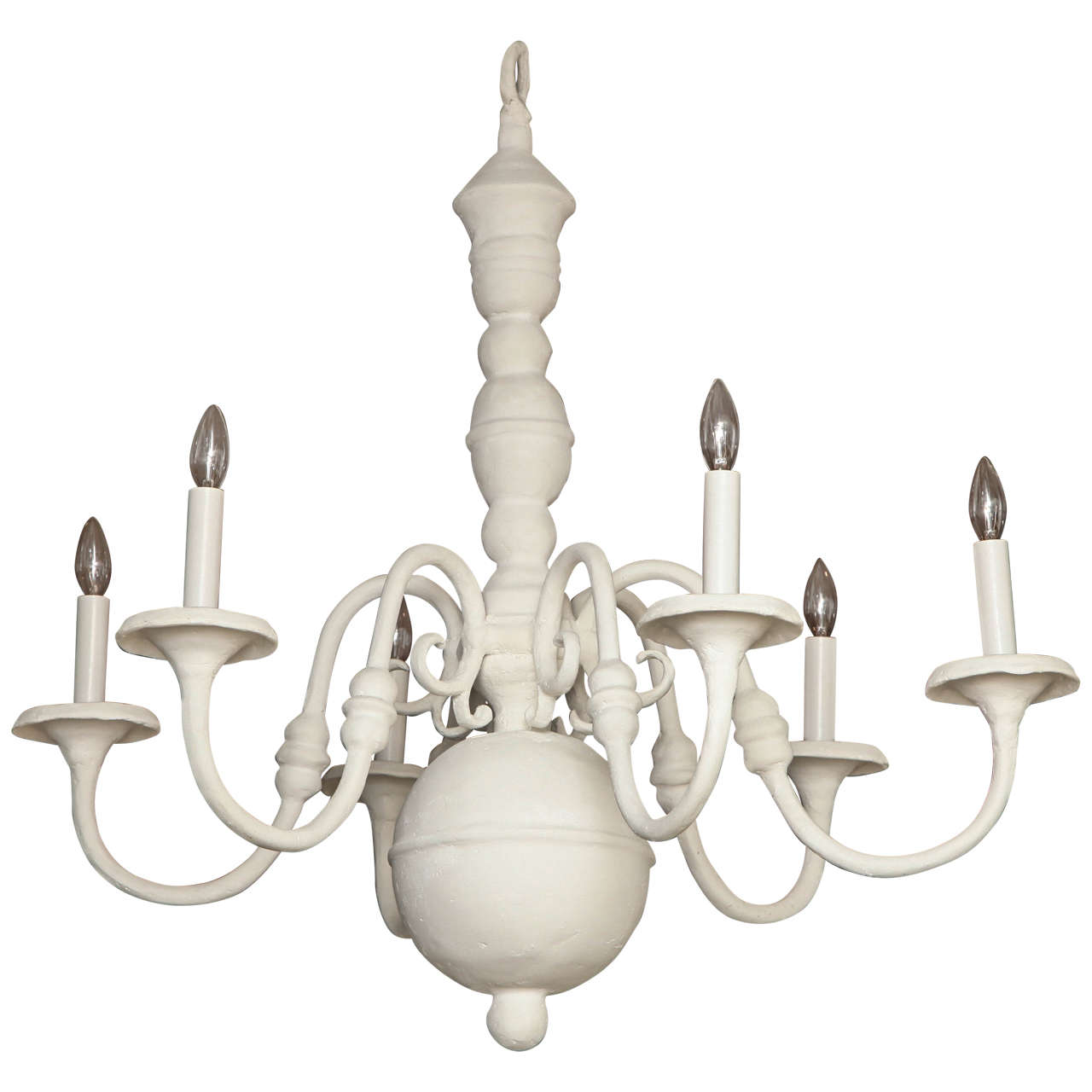 dutch style plaster six arm chandelier french 1930s chandeliers and pendant lighting