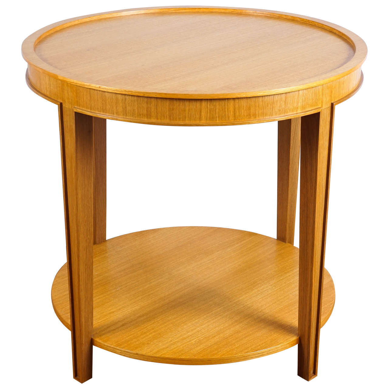 Custom Round Oak Table For Sale At 1stdibs