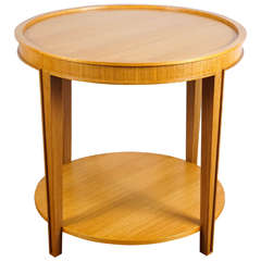 Custom Round Oak Table