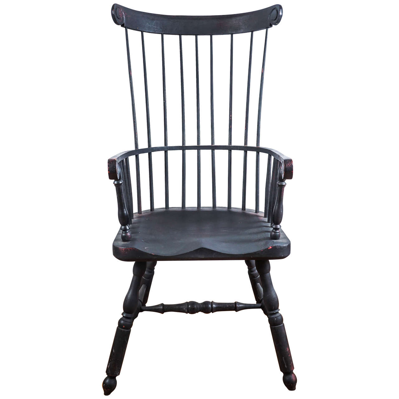 High-Back Windsor Chair 1 - High-Back Windsor Chair For Sale At 1stdibs