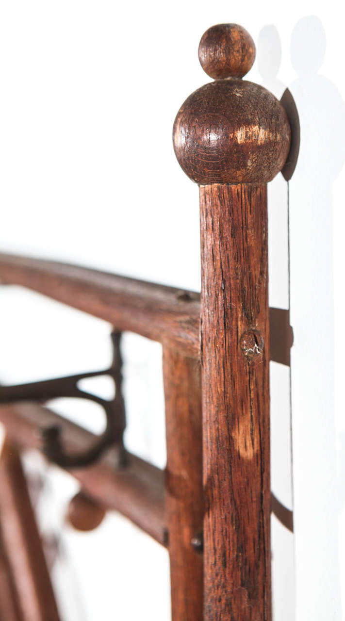 Vintage Wall Mount Coat Rack With Center Mirror At 1stdibs