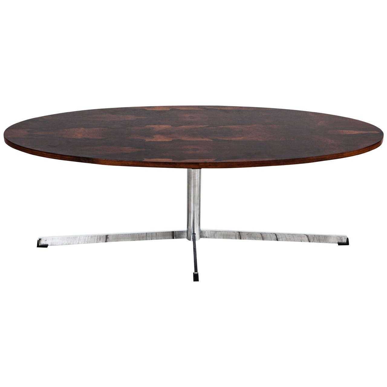 Mid Century Oval Coffee Table In The Style Of Florence