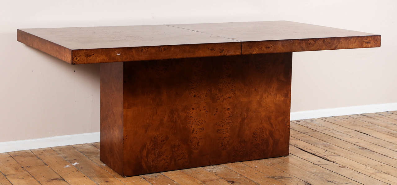 Burl Wood Dining Table By Milo Baughman For Thayer Coggin